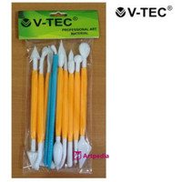 V-Tec Alat Clay Type VT 31-10 / Clay Knife Plastik