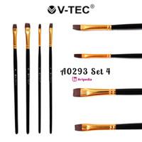 V-Tec Brush A0293 Set 4 / Kuas Lukis Set 4