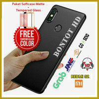 PAKET CASE CASING + TEMPERED GLASS FULL LAYAR HP XIAOMI REDMI S2 S 2