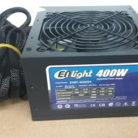 Power Supply Enlight 400W 80+ Black Silver