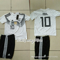 JERSEY KIDS ANAK JERMAN HOME PIALA DUNIA 2018 GO PLUS NAMSET CUSTOM