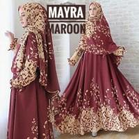 baju gamis seragam syari muslim Mayra monalisa set khimar