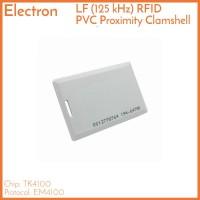 125 kHz Clamshell UID RFID Proximity Card Tag Kartu Tebal Lubang