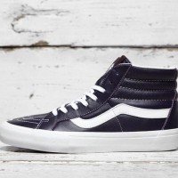 Sepatu Sneakers Vault by Vans ori SK8 Hi Lux Leather black VA3MV7R3P