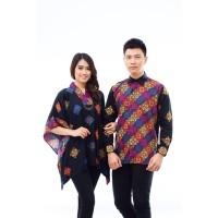 CPT62a Batik Couple Muslim Dobby Lengan Panjang Seragam Baju Wanita