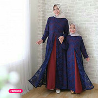Couple gamis muslim ibu anak dress azkeera