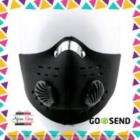 Masker Motor Filter Anti Polusi - Black