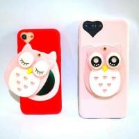 OWL MIRROR Case iPhone 5 5s SE 6 6Plus 7 7 Plus 8 8Plus X (Soft Case)