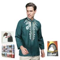 SHOHIB Baju Koko Kemeja Muslim Pria Lengan Panjang 3 IN 1 AIMAN 06