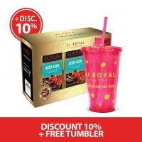 Bundling 2 JJ Royal Coffee Aceh Gayo Arabica Bag 200gr Free Tumbler