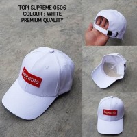 TOPI SUPREME 0506 WHITE PREMIUM QUALITY import keren murah bagus baru 4c6caed8e8
