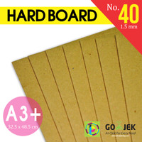 Karton Hard Board No. 40 Ketebalan 1,5 mm size A3+ (32.5 x 48.5 cm)