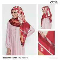Terbaru Laris! Hijab Kerudung Segi Empat RENATTA Scarf ZOYA Original