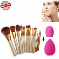 JBS New York Make up brush set (paket  kuas K 036 + brush egg + spon)