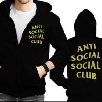 a927108a99b8 Jaket hoodie zipper Anti Social Social Club -gold Berkualitas