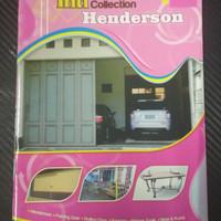 Buku katalog pintu lipat Handerson ranjang besi kursi besi dan mainan