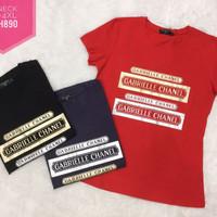 Baju atasan kaos wanita import ukuran besar/jumbo