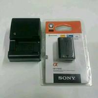 Baterai kamera sony Alpha NP-FW50+ Charger BC-VW1-A7000 PAKET HEMAT