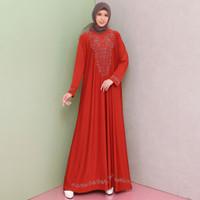 Baju Gamis Wanita Terbaru Gamis Jersey Premium Variasi MOTEK 6887