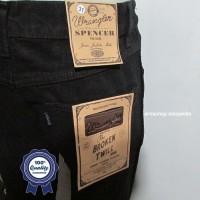 Celana Jeans Branded Wrangler Standar/Regular Hitam 27-32 CO