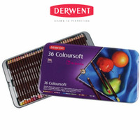 Derwent Coloursoft 36 Tin/ Coloursoft Tin 36 pcs-Pensil warna Derwent
