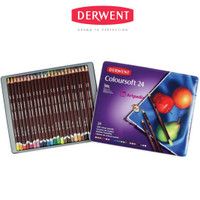 Derwent Coloursoft 24 Tin/ Coloursoft Tin 24 pcs-Pensil warna Derwent