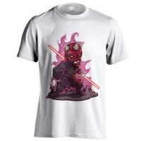 Kaos Super Hero Chibi Darth Maul Putih Ukuran S - XXL Baju Distro