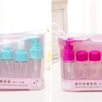 L376 New 5 in 1 Travel Toiletries Kit ( 1 set isi 5 pcs botol)