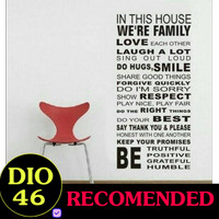 WALLSTICKER STIKER DINDING 60X90 WORD DF5206