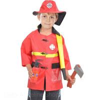 Fire fighter costume pemadam kebakaran cosplay anak balita kostum
