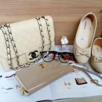 tas wanita tas terbaru 2018 tas selempang chanel dompet warna putih