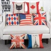 FLAGSERIS Sarung Bantal Sofa kursi perlengkapan dekorasi rumah 40x40cm
