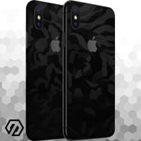 [EXACOAT] iPhone X Skins 3M Skin / Garskin - Black Camo