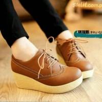 Jual Sepatu Wanita Branded Berkualitas WEFGES BOOTS TAN YY02