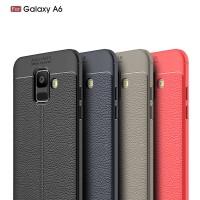Soft Case / TPU Leather / Samsung Galaxy A6 2018 - Auto Focus
