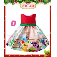 Dress Bayi My Little Pony Warna Merah Gaun Bayi Perempuan Branded