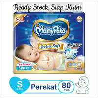 Harga mamypoko extra dry tape s 80 s80 popok perekat bayi mamypoko | Pembandingharga.com