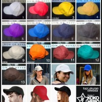 Topi Baseball Polos Warna Warni Polosan bisa untuk pesanan