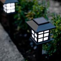 Lampu taman tenaga surya solar cell embok dinding 8 Jam Waterproof