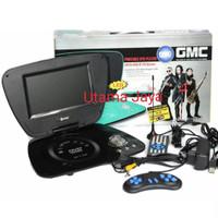 "Portable GMC 9"" DIVX-808U-TV 9"" DVD PLAYER - LED 300 GAME MP3 USB SD"