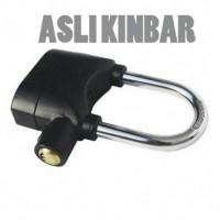 Kunci Gembok Kinbar Sensor Getar dan Alarm / pengaman sepeda motor