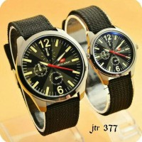 jam tangan couple swiss army / jtr 377 hitam