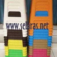 Olymplast Kursi Baso/Cafe/Warung/ Plastik Anyaman Rotan Coklat Muda