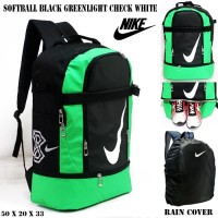 Harga tas ransel nike softball black greenlight check white free rain | Hargalu.com