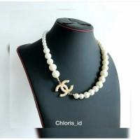 Aksesoris Kalung Mutiara Chanel