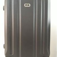 Koper Black hitam Hard Case Keras 20 inch 4 Roda Dgn Combination Lock
