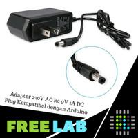 Adapter Power Supply 9V 1A DC Kompatibel untuk Arduino High Quality