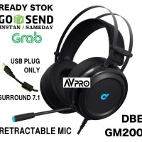 DbE GM200 Gaming Headphone 7.1 Surround With Plug USB Only