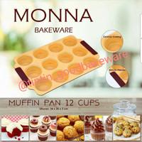 Jual Muffin Pan 12 Cups Monna Murah