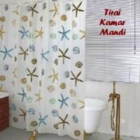 Tirai Kamar Mandi anti air - Gorden Shower Curtain Bathroom waterproof
